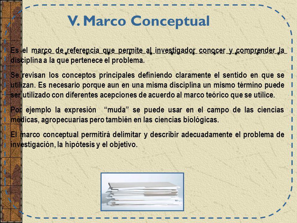 Es el marco de referencia que permite al investigador conocer y comprender la disciplina a la que pertenece el problema. Se revisan los conceptos prin