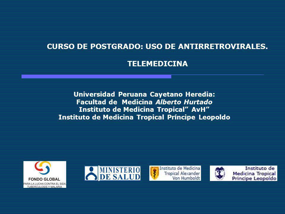 CURSO DE POSTGRADO: USO DE ANTIRRETROVIRALES.