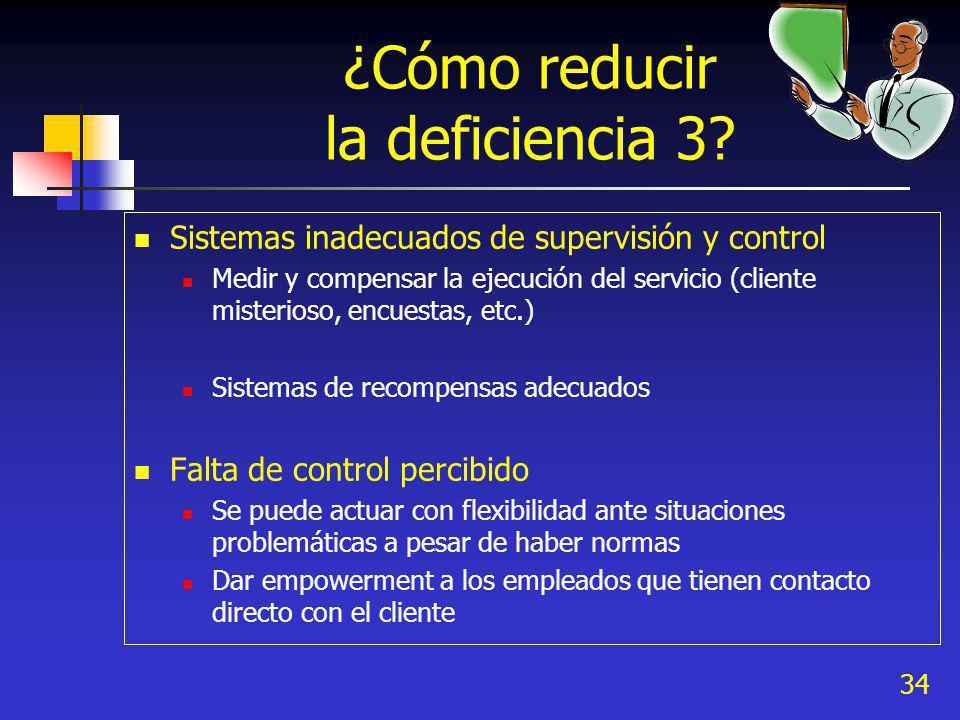 34 ¿Cómo reducir la deficiencia 3.