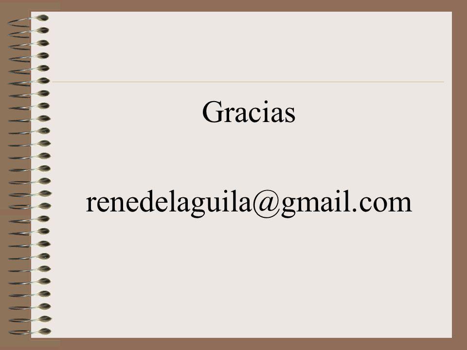 Gracias renedelaguila@gmail.com