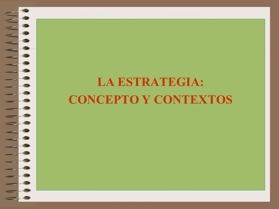 LAS CINCO Ps DE LA ESTRATEGIA PERSPECTIVA PATRÓN PLAN INTER- RELACIÓN POSICIÓN Henry Mintzberg ( California Management Review (1987).