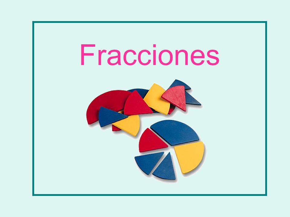 Con los círculos de fracciones forma: 2 5 Dos quintos