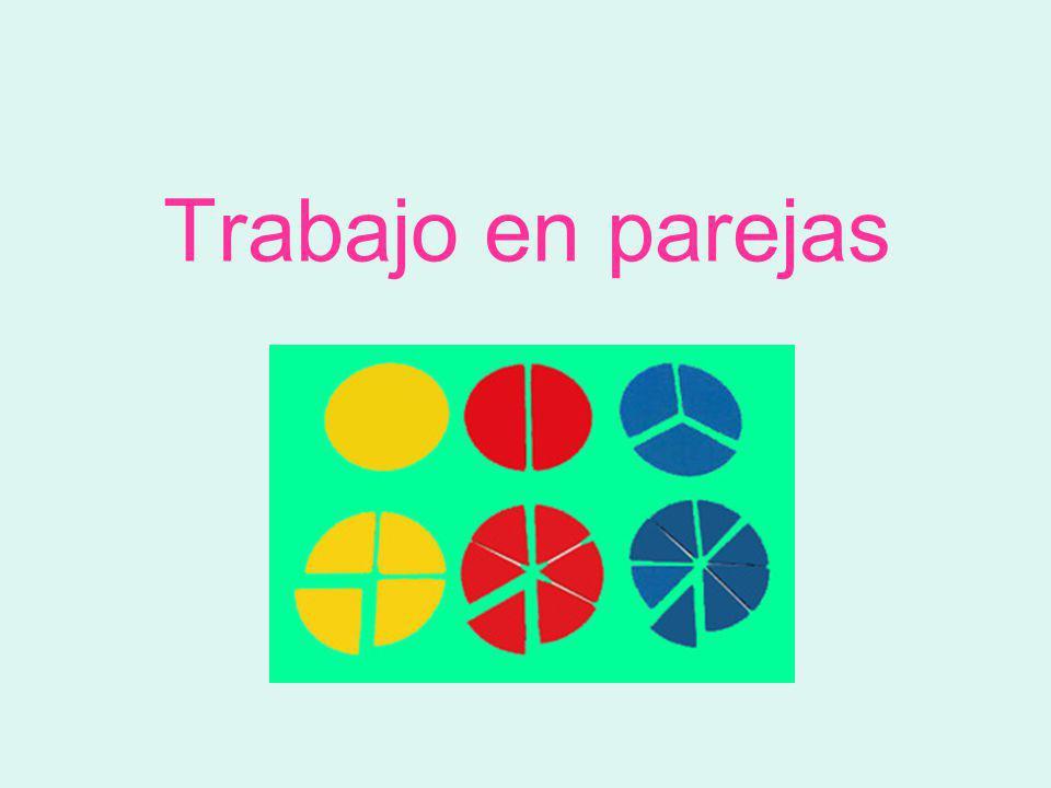 Con los círculos de fracciones forma: 1 2 Un medio