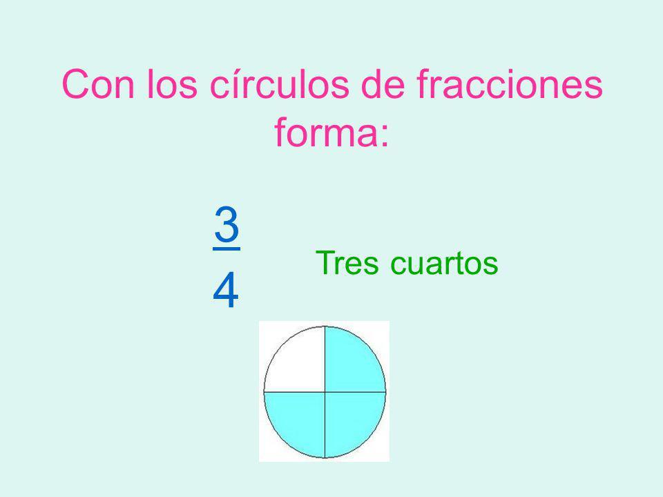 Con los círculos de fracciones forma: 2 6 dos sextos
