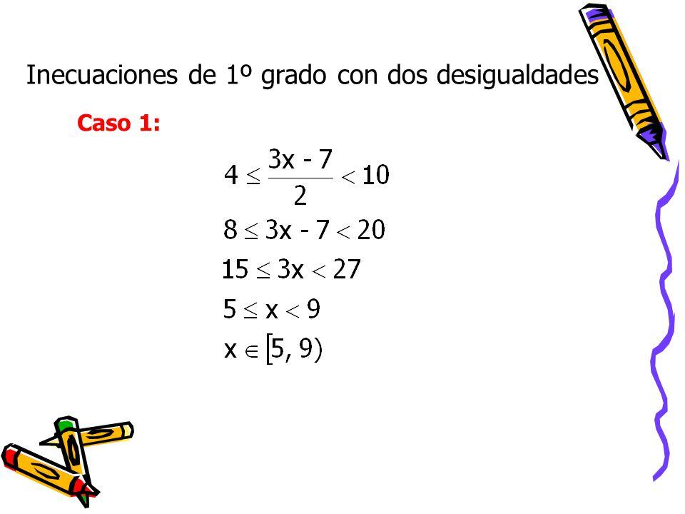 Inecuaciones de 1º grado con dos desigualdades Caso 1: