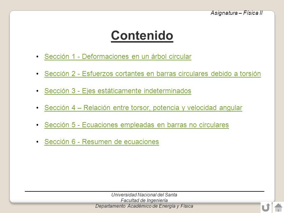 ______________________________________________________________________________ Universidad Nacional del Santa Facultad de Ingeniería Departamento Académico de Energía y Física Sección triangular equilátera Asignatura: Física II