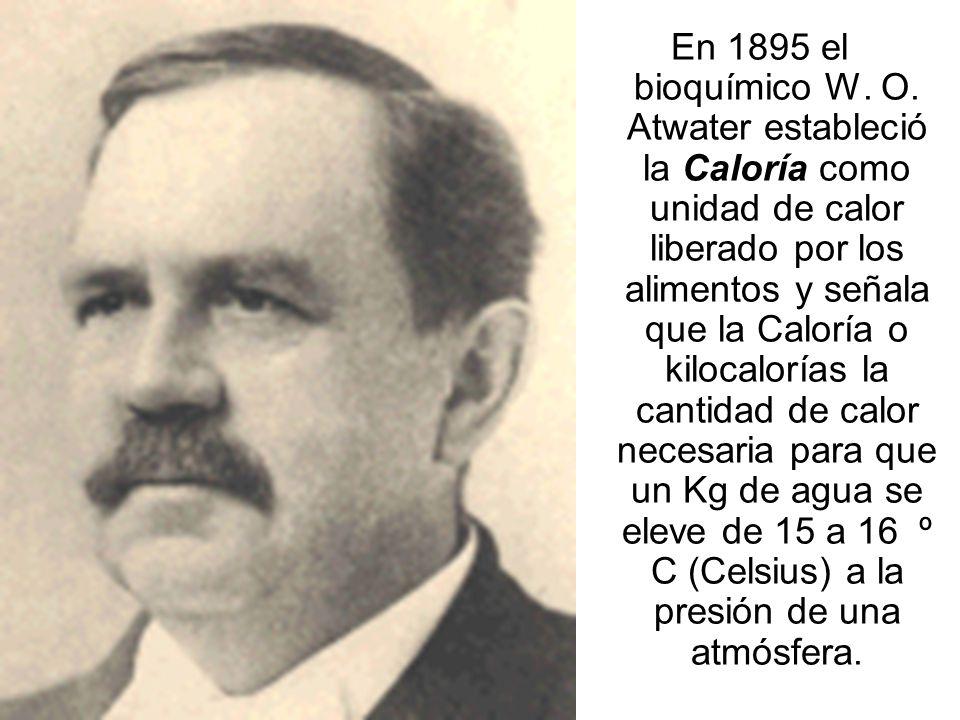 En 1895 el bioquímico W.O.