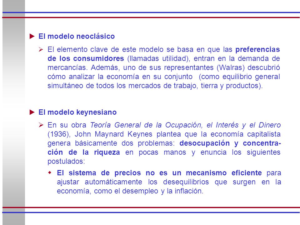 El elemento clave de este modelo se basa en que las preferencias de los consumidores (llamadas utilidad), entran en la demanda de mercancías. Además,