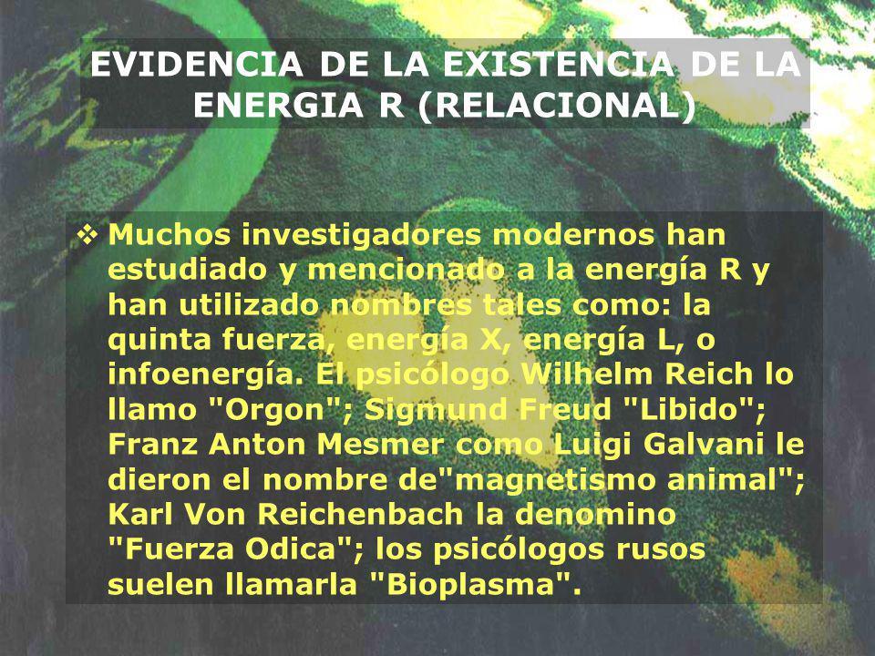 Muchos investigadores modernos han estudiado y mencionado a la energía R y han utilizado nombres tales como: la quinta fuerza, energía X, energía L, o