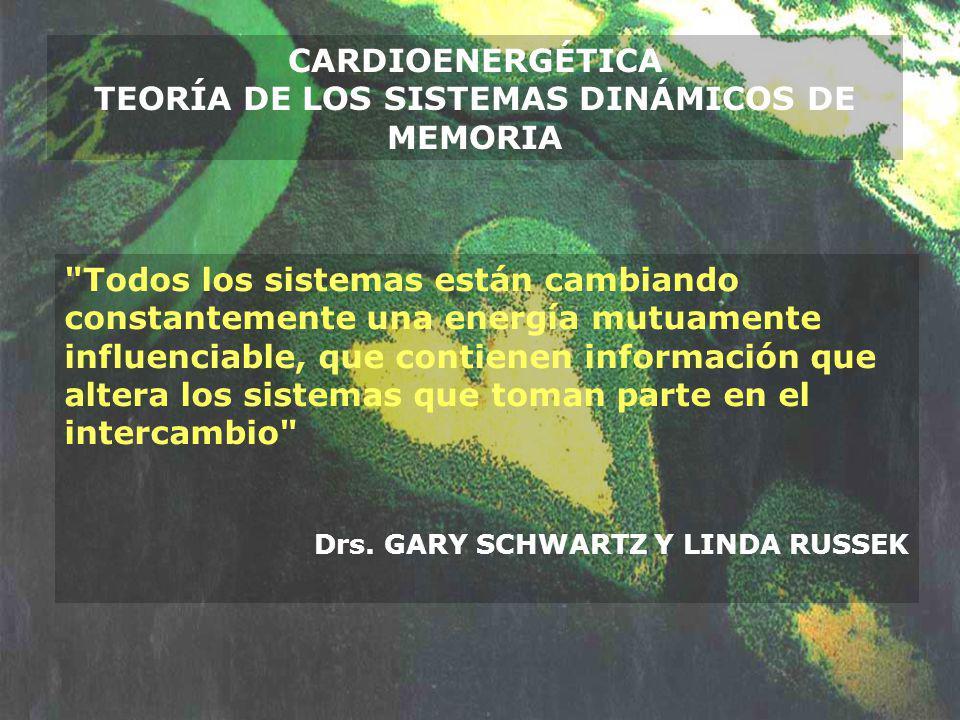 CARDIOENERGÉTICA TEORÍA DE LOS SISTEMAS DINÁMICOS DE MEMORIA