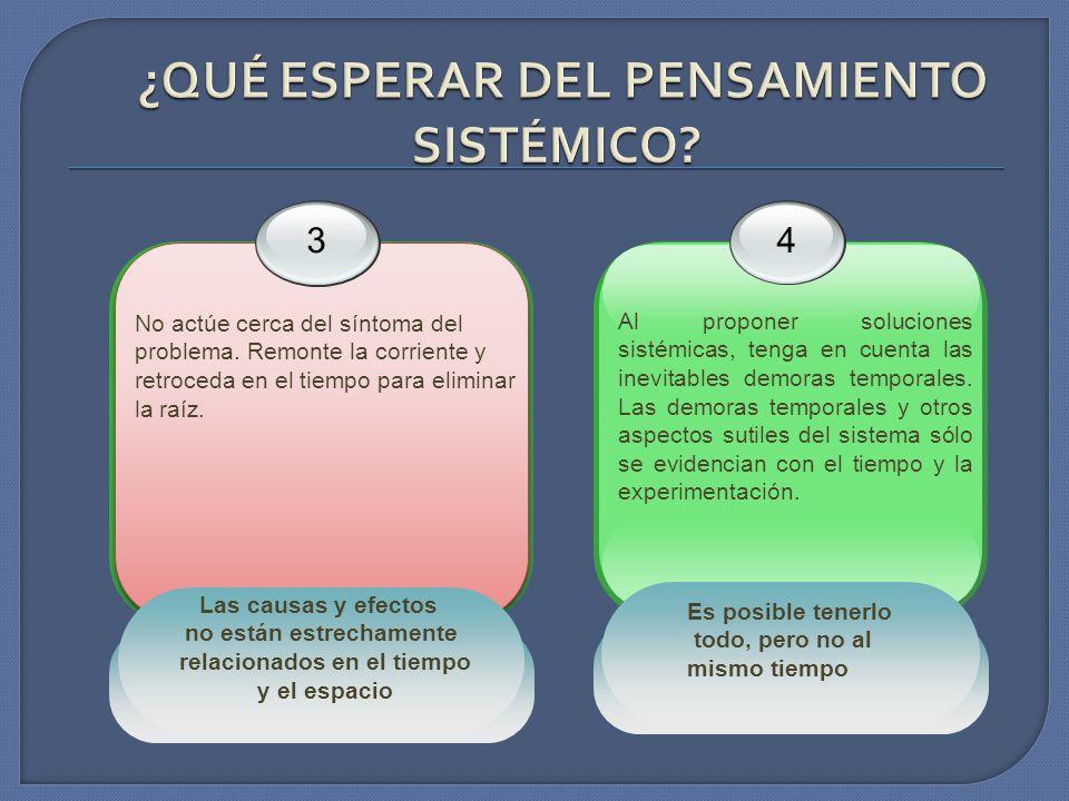 4 Al proponer soluciones sistémicas, tenga en cuenta las inevitables demoras temporales. Las demoras temporales y otros aspectos sutiles del sistema s