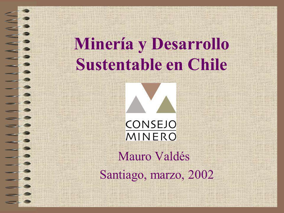 Chile y minería deben ser competitivos y atractivos para inversionistas La minería omnipresente en sus regiones Aporta importantes recursos a la educación,cultura, desarrollo de comunidades locales, infraestructura, deporte, ciudades y servicios Ha creado colegios e institutos.