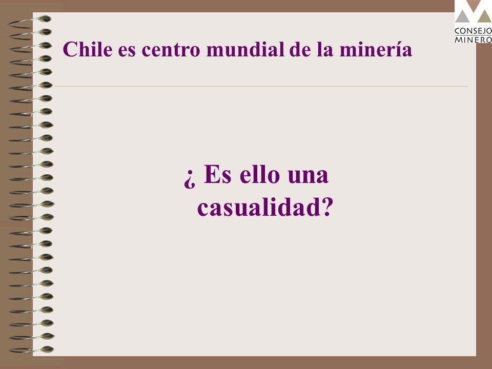 ¿ Es ello una casualidad Chile es centro mundial de la minería