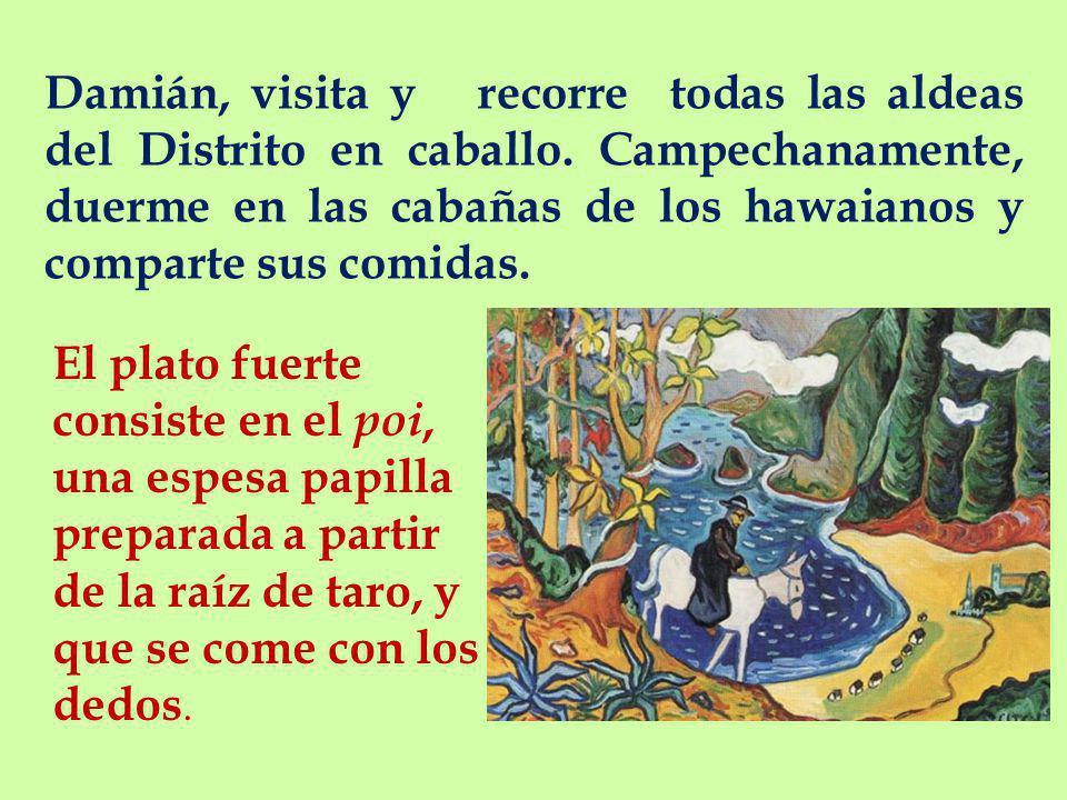 Damián, visita y recorre todas las aldeas del Distrito en caballo.