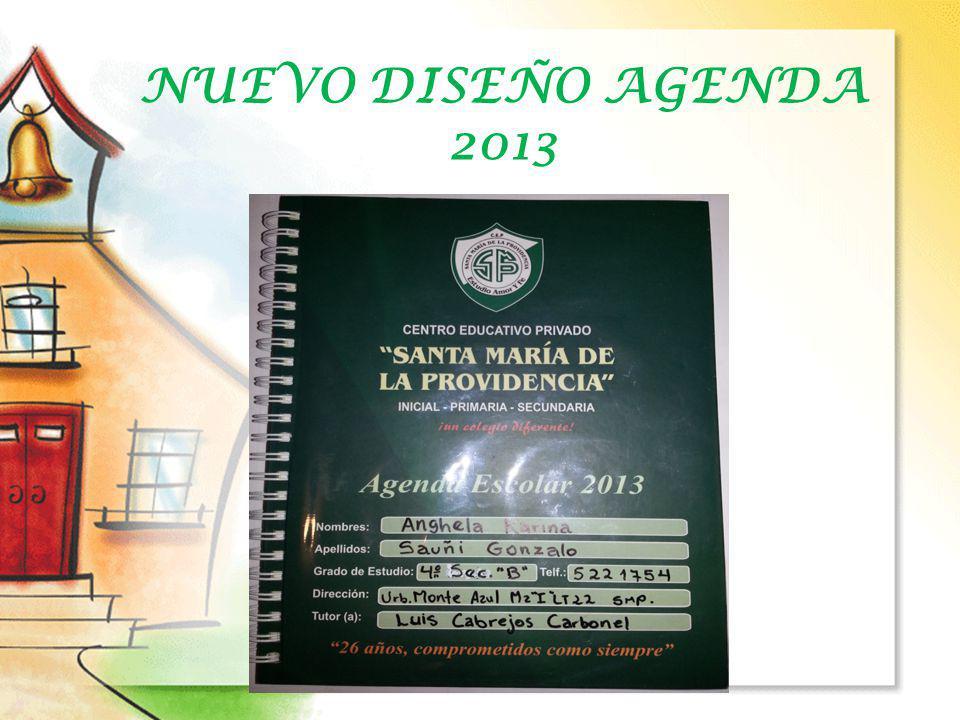 NUEVO DISEÑO AGENDA 2013