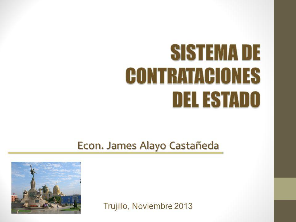 Econ. James Alayo Castañeda Trujillo, Noviembre 2013