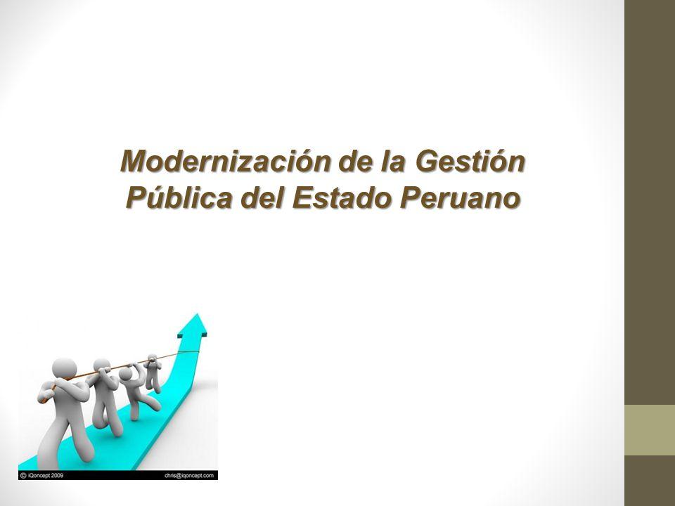 Modernización de la Gestión Pública del Estado Peruano