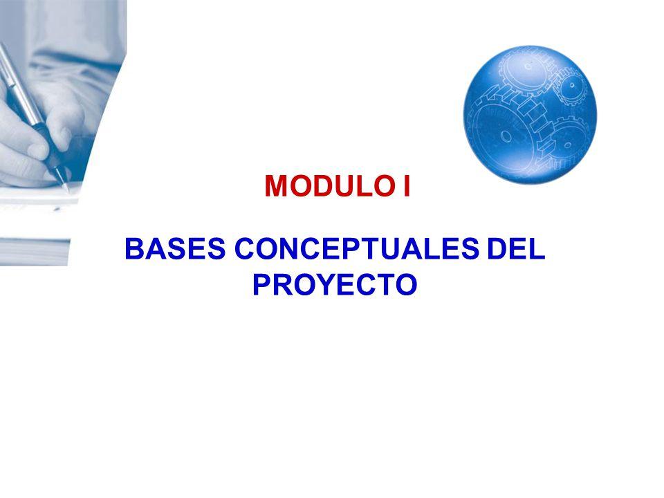 MODULO I BASES CONCEPTUALES DEL PROYECTO