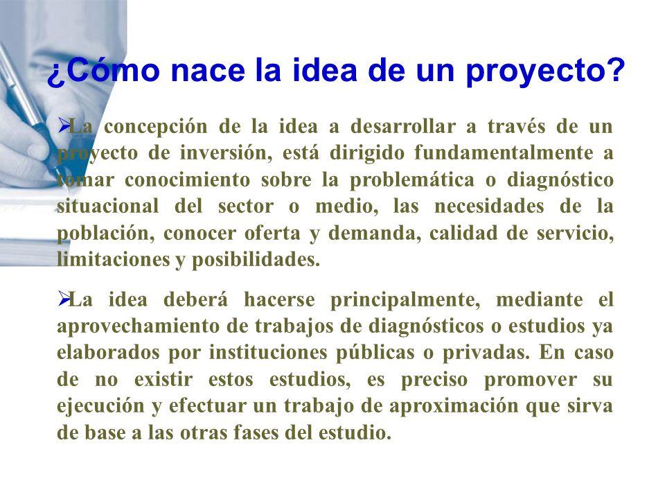 La concepción de la idea a desarrollar a través de un proyecto de inversión, está dirigido fundamentalmente a tomar conocimiento sobre la problemática