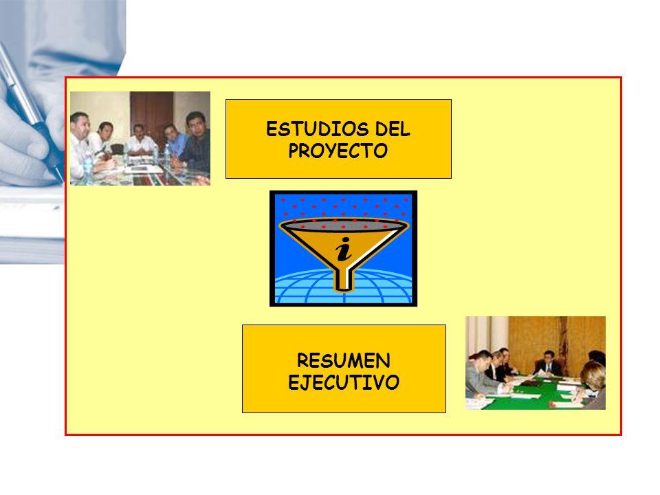 ESTUDIOS DEL PROYECTO RESUMEN EJECUTIVO