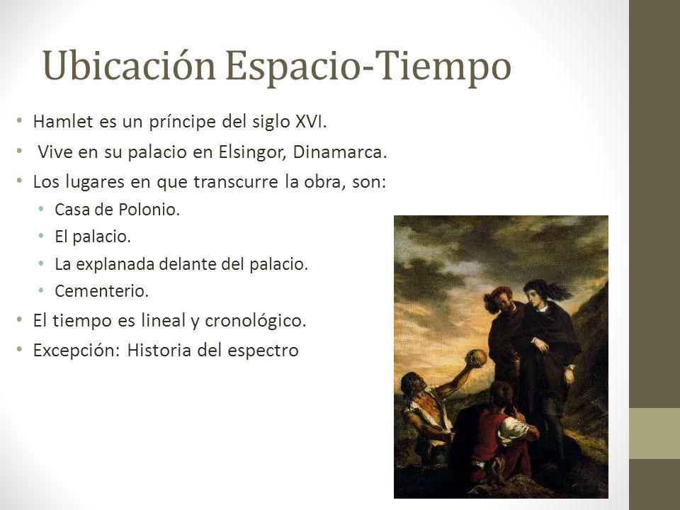 Ubicación Espacio-Tiempo Hamlet es un príncipe del siglo XVI.