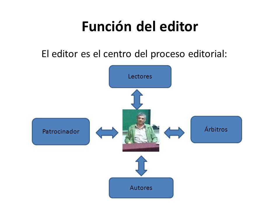 Funciones de un editor científico Crear las políticas editoriales de su revista.