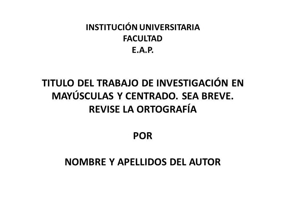 INSTITUCIÓN UNIVERSITARIA FACULTAD E.A.P.