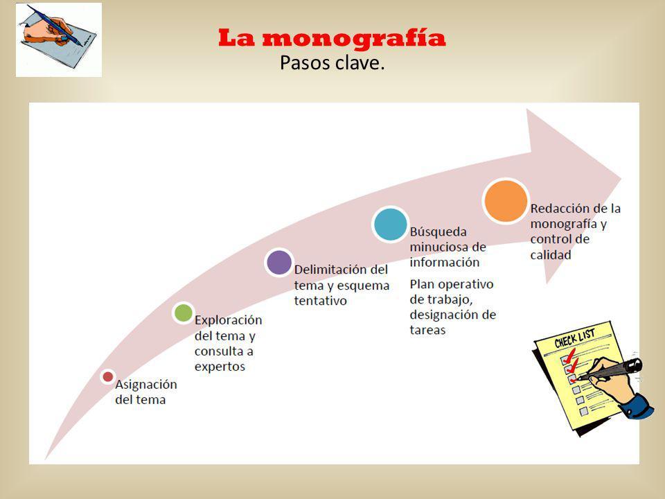 La monografía Pasos clave.