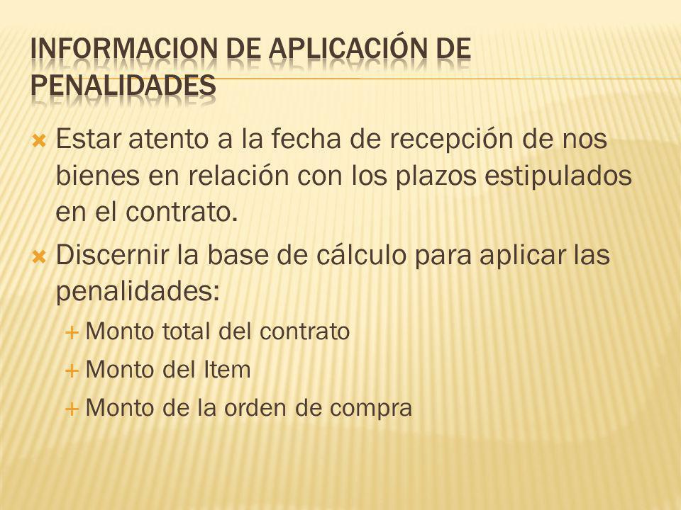 Estar atento a la fecha de recepción de nos bienes en relación con los plazos estipulados en el contrato.