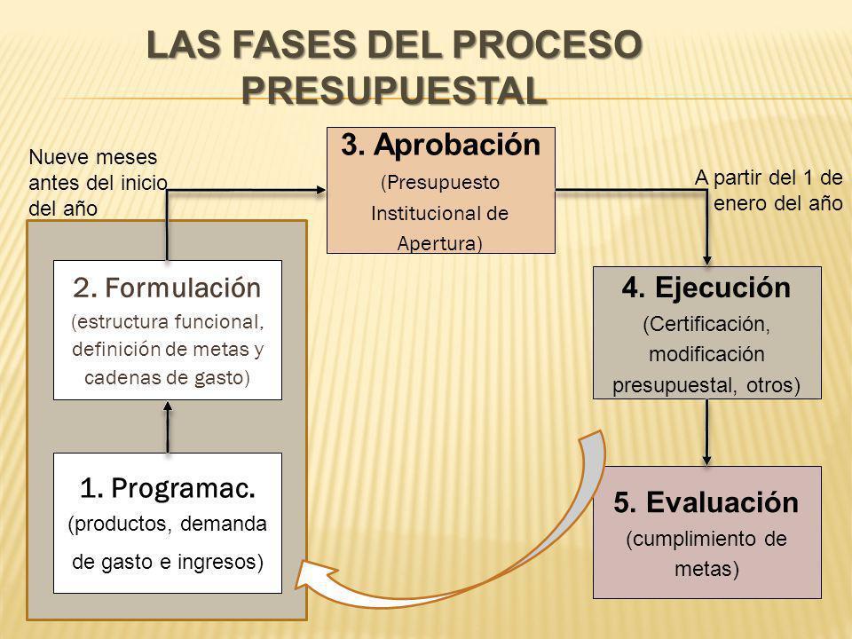 LAS FASES DEL PROCESO PRESUPUESTAL 2.