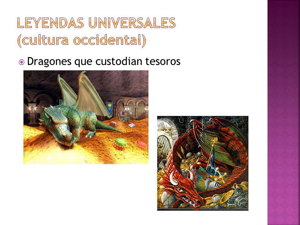 Dragones que custodian tesoros