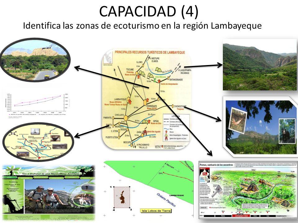 CAPACIDAD (4) Identifica las zonas de ecoturismo en la región Lambayeque