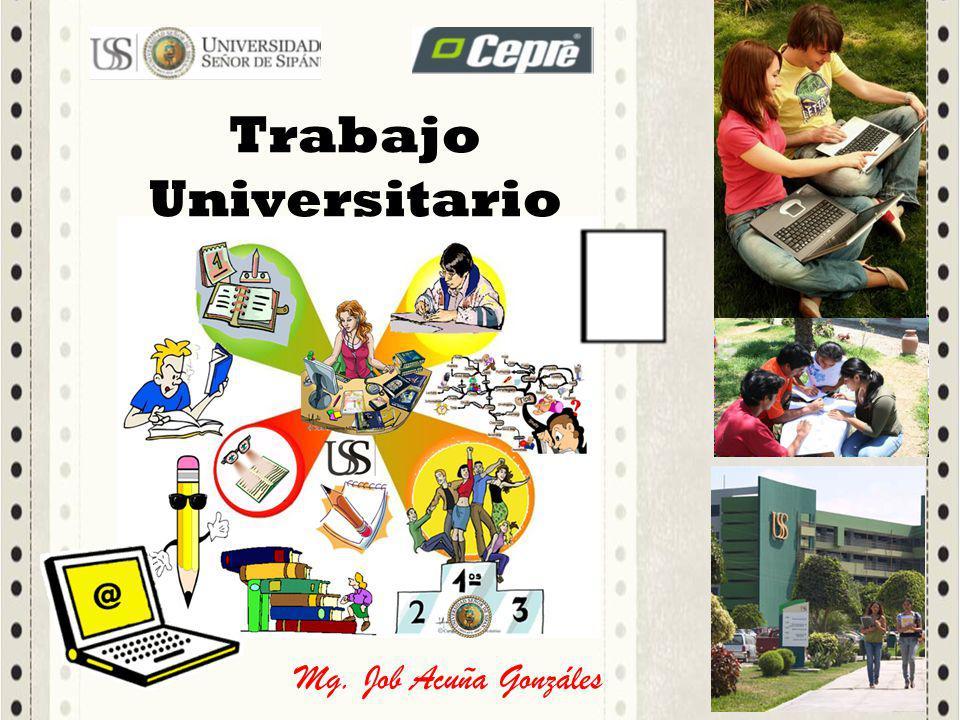 Mg. Job Acuña Gonzáles Trabajo Universitario