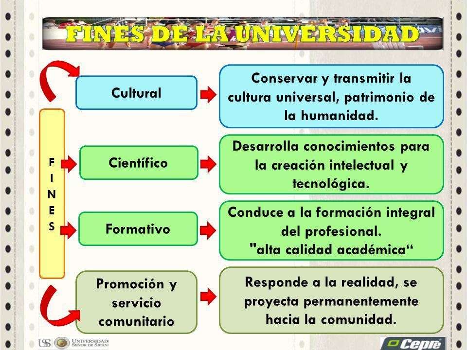 Conservar y transmitir la cultura universal, patrimonio de la humanidad.