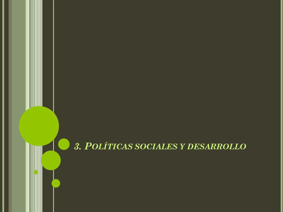 3. P OLÍTICAS SOCIALES Y DESARROLLO