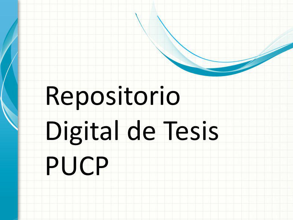 Repositorio Digital de Tesis PUCP