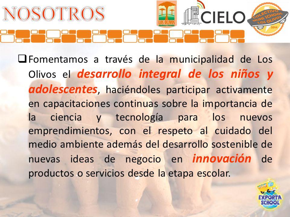 Fomentamos a través de la municipalidad de Los Olivos el desarrollo integral de los niños y adolescentes, haciéndoles participar activamente en capaci