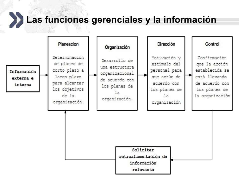Las funciones gerenciales y la información