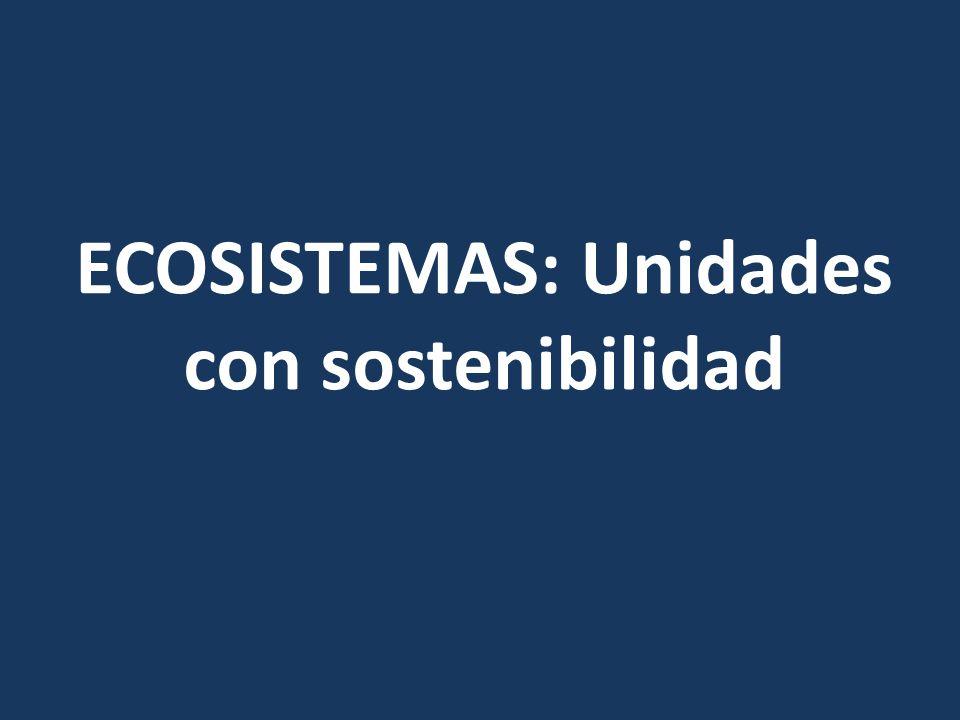 ECOSISTEMAS: Unidades con sostenibilidad