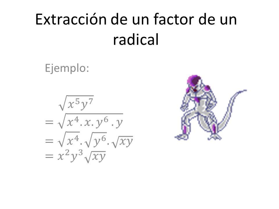 Introducción de un factor dentro del signo radical