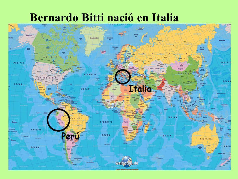 Bernardo Bitti nació en Italia