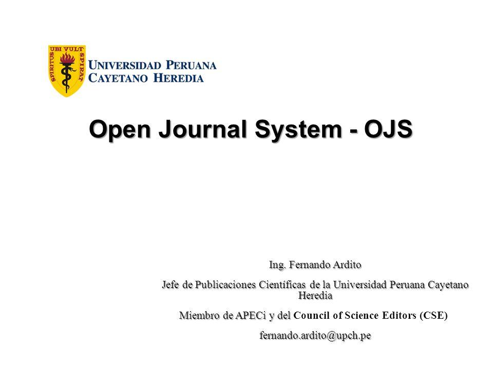 Proceso de carga en OJS: Escoger la Revista