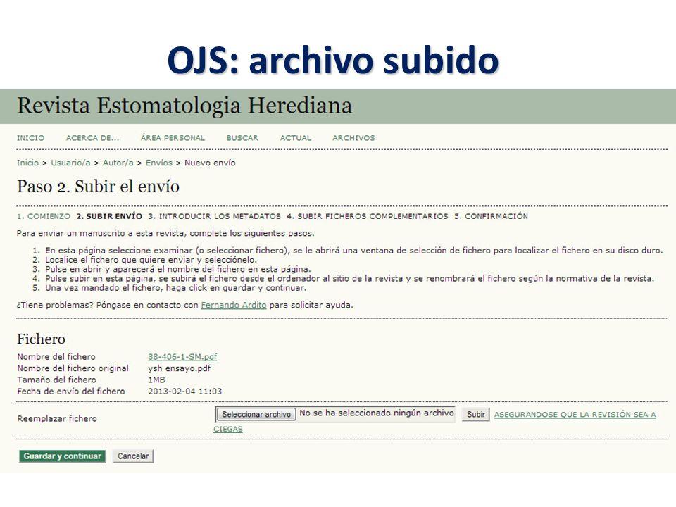 OJS: archivo subido