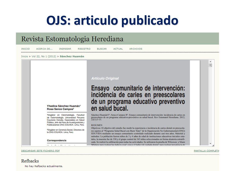OJS: articulo publicado