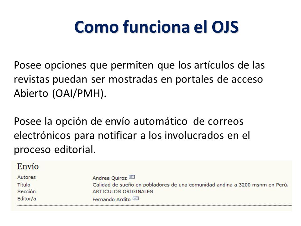 OJS: Confirmación de envío