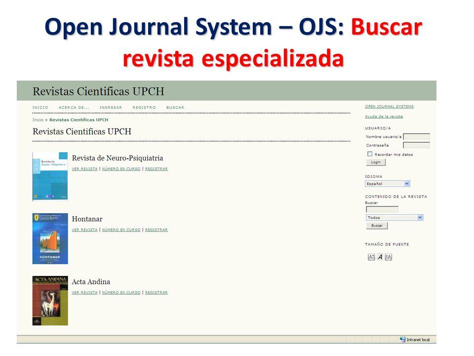 Open Journal System - OJS