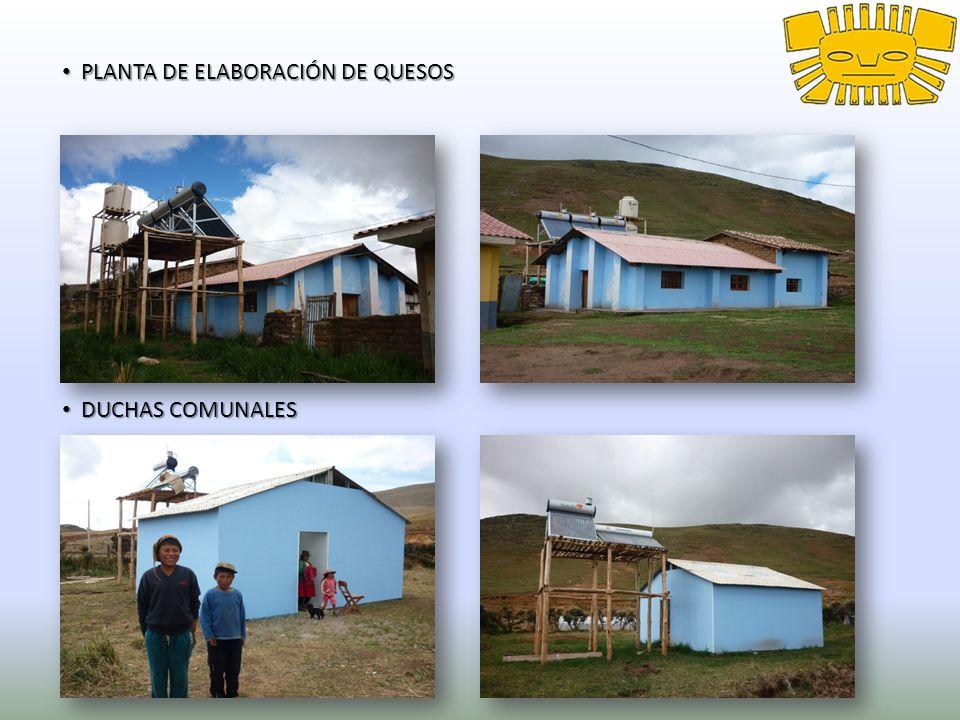 PLANTA DE ELABORACIÓN DE QUESOS PLANTA DE ELABORACIÓN DE QUESOS DUCHAS COMUNALES DUCHAS COMUNALES