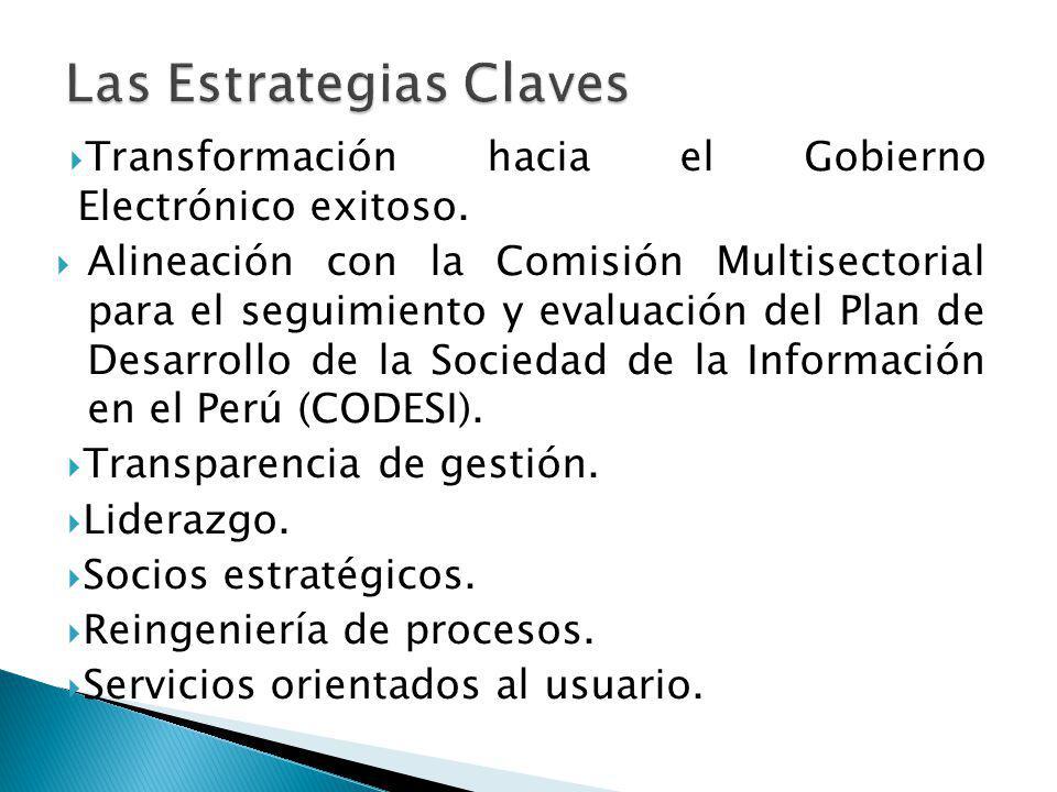 Transformación hacia el Gobierno Electrónico exitoso. Alineación con la Comisión Multisectorial para el seguimiento y evaluación del Plan de Desarroll