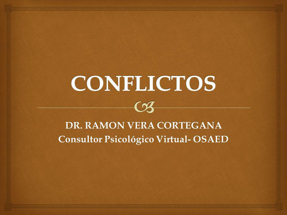 DR. RAMON VERA CORTEGANA Consultor Psicológico Virtual- OSAED
