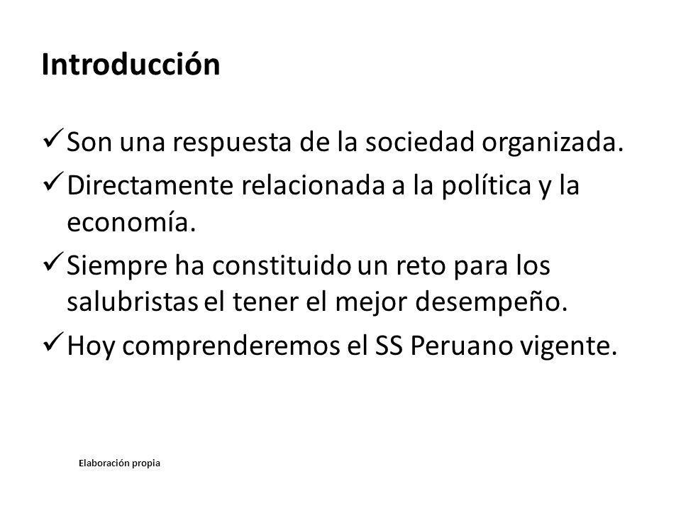Introducción Son una respuesta de la sociedad organizada. Directamente relacionada a la política y la economía. Siempre ha constituido un reto para lo